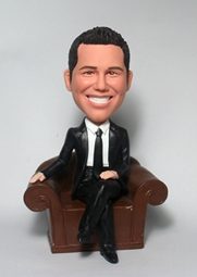 Custom Sitting on sofa bobbleheads