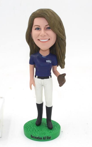 Custom Baseball fan bobblehead