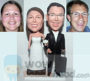 Bobblehead cake toppers
