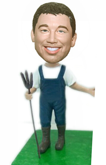 Custom Country farmer bobbleheads
