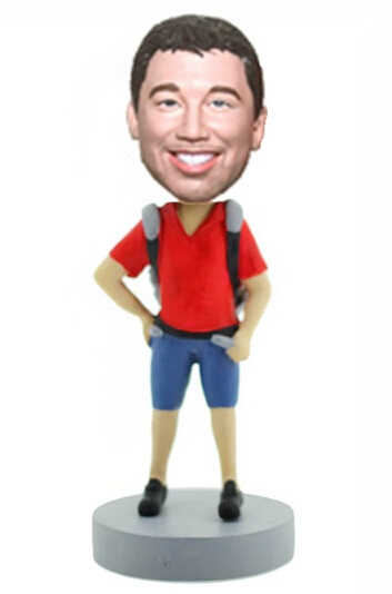 Custom Backpacker bobblehead