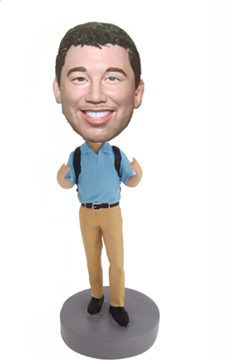 Custom Office man backpack bobblehead