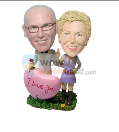 Custom Lover on Valentine's Day bobblehead