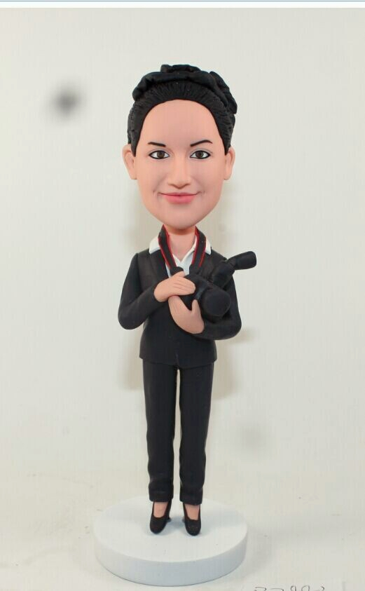 Custom Personalized photographer bobbleheads