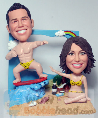 Custom Summer Fun Anniversary Bobblehead