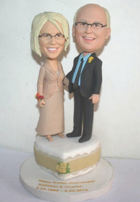 Custom 50th Golden wedding anniversary gift