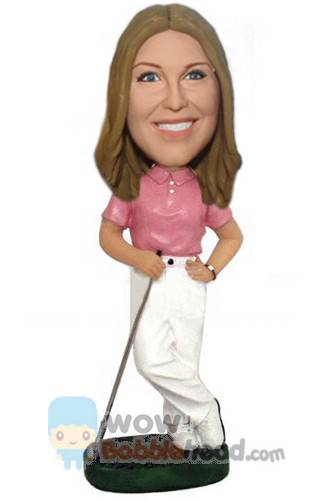 Custom Female golfer custom bobbleheads