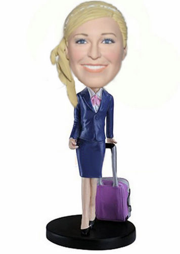 Custom Business trip lady bobbleheads