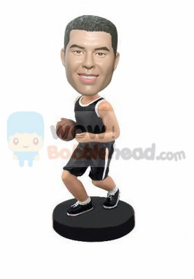 Custom Dribbing basketball player bobblehead