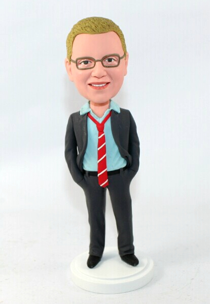 Custom Casual Business Man bobblehead