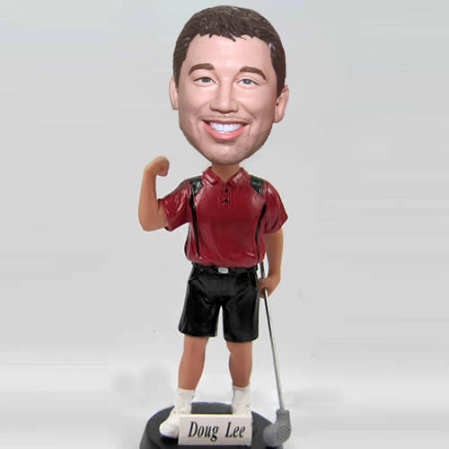 Custom Golf guy bobblehead