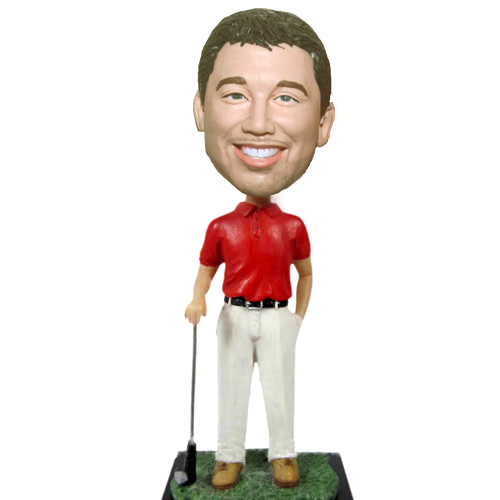 Custom Casual Golf Man bobblehead