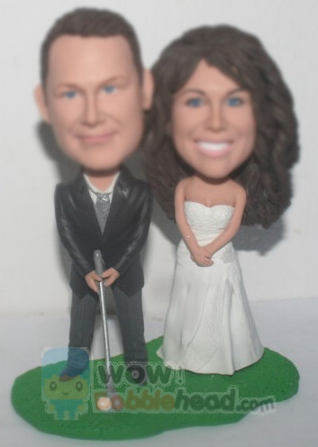 Custom Golf Cake Top Bobbleheads BW33