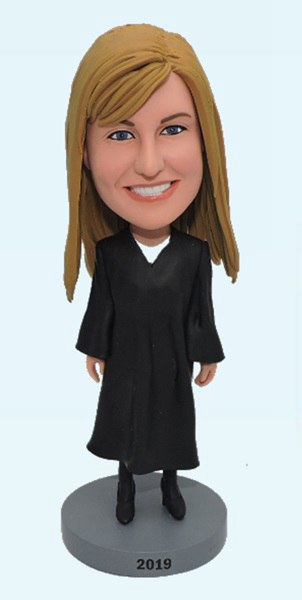 Custom Personalized Female Judge bobbleheads
