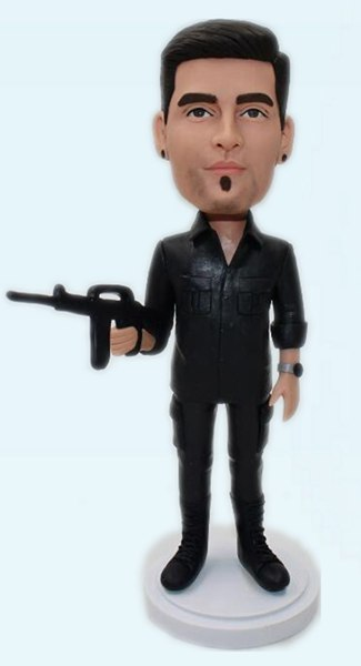 Custom Custom your bobbleheads with gun