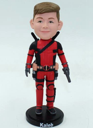 Custom Custom deadpool bobblehead with gun