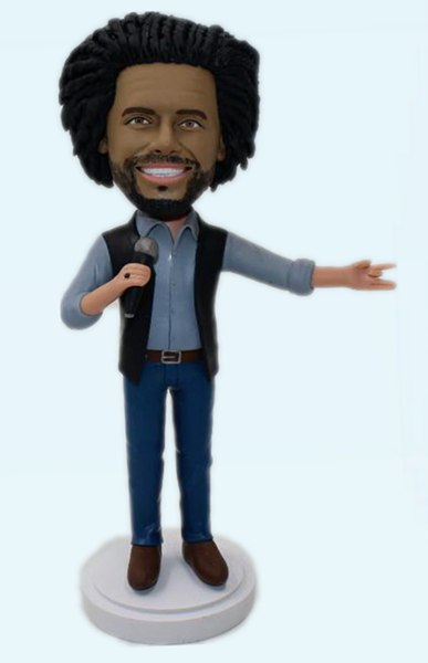 Custom Create your bobbleheads with microphone