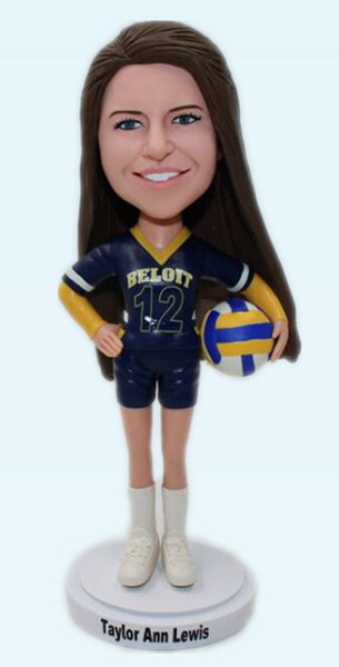 Custom Personalized volleyball bobbleheads
