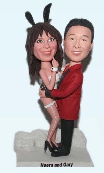 Custom Playboy and Bunny Anniversary Bobblehead