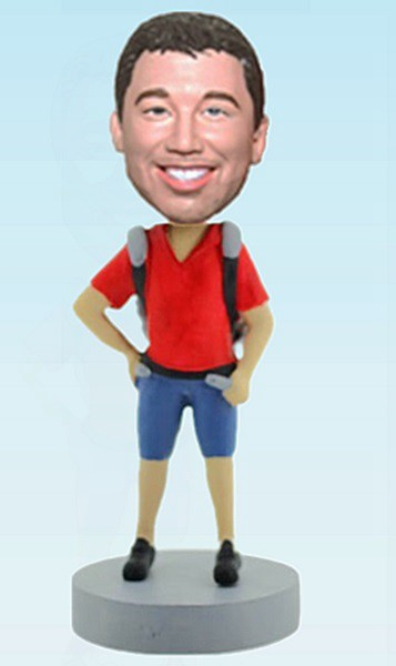 Custom Custom Backpacker bobblehead
