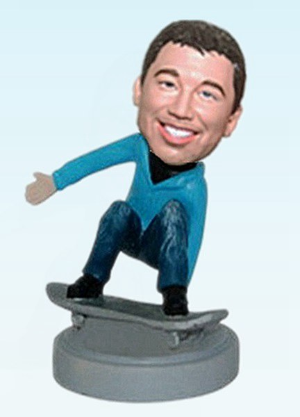 Custom Personalized skateboarding bobbleheads