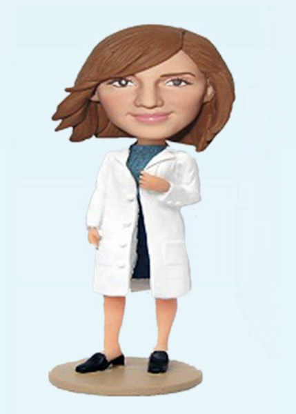 Custom Create Fashion lady bobblehead