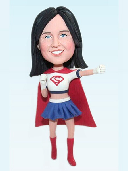 Custom Super girl bobbleheads