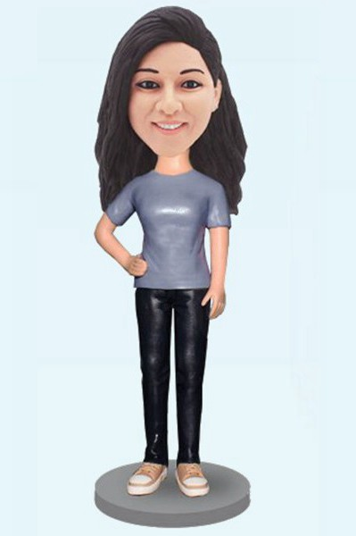 Custom Personalized Fashion Girl Bobblehead