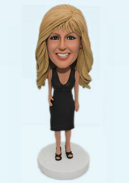 Custom Black Dress Woman bobblehead