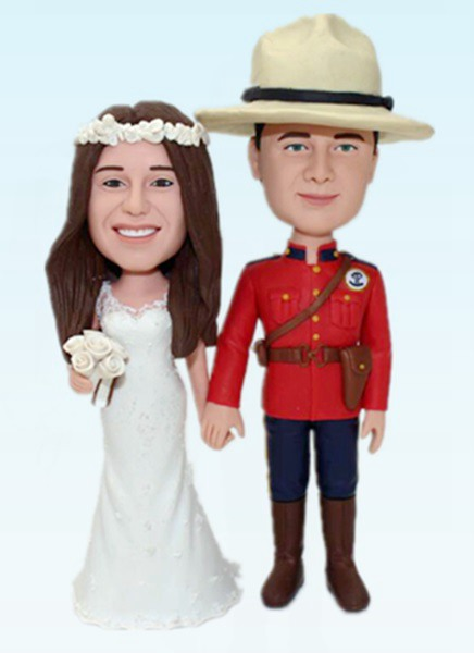 Custom Custom Police wedding bobbleheads