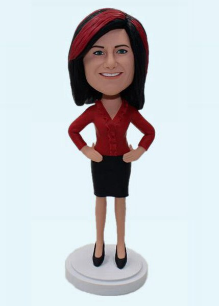 Custom Create Bobblehead Gift For Office Lady