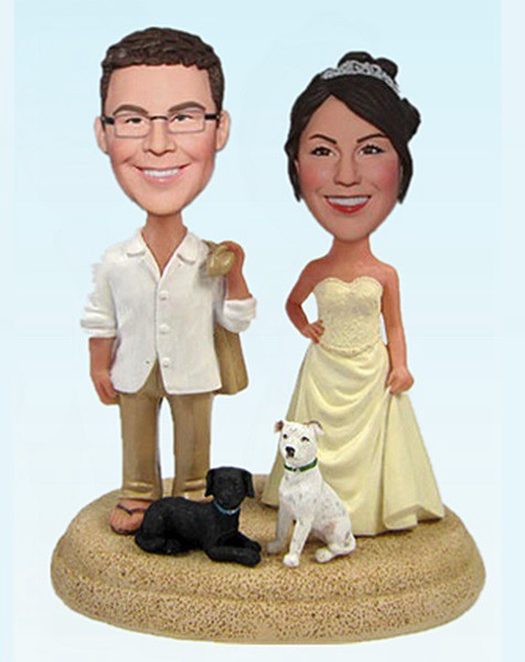 Custom Beach Casual bobbleheads toppers
