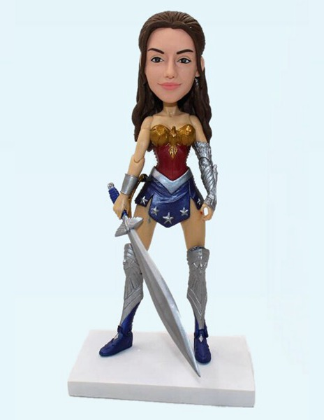 Custom Custom Wonder Woman Action Bobblehead