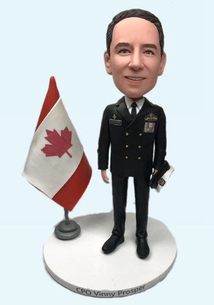 Custom Custom Bobblehead Canadian Navy Chief