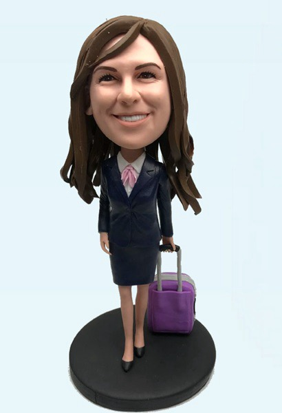 Custom Fashional lady custom bobbleheads