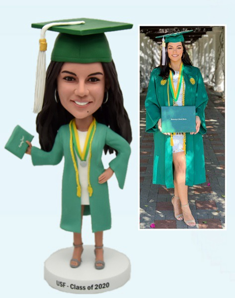 Custom Create Graduation Bobblehead Gift