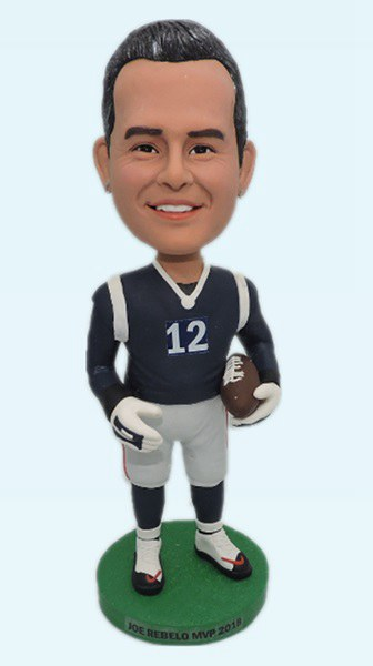 Custom New England Patriots football bobbleheads