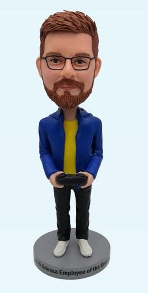 Custom Personalized Boyfriend Bobblehead Playing Game