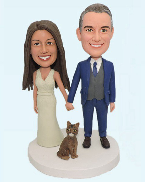 Custom Custom Wedding Bobblehead With Pet