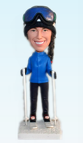 Custom Personalized skiing bobbleheads