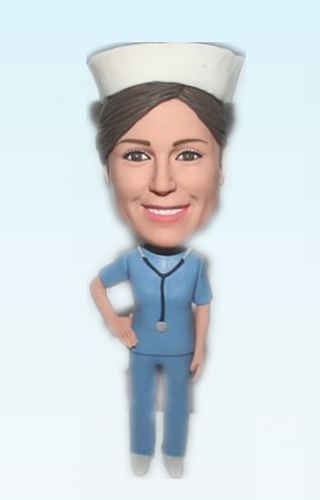 Custom Personalized nurse bobbleheads