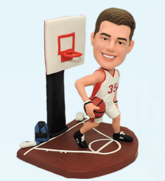 Custom Custom Bobblehead Playing Basketball