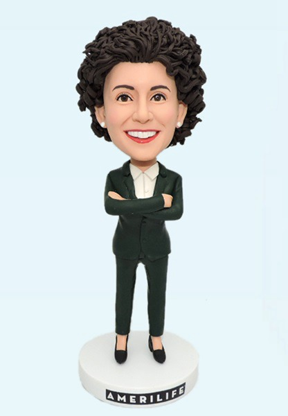 Custom Personalized Bobblehead For Office Lady