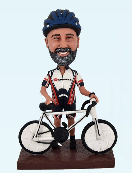 Custom Create Bobbleheads For Male Cyclists