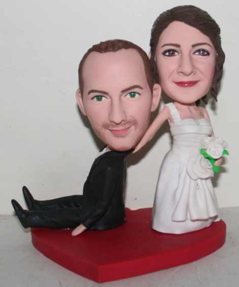 Custom Bride Dragging Groom Bobblehead