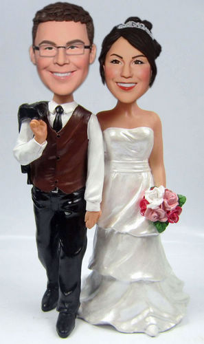 Custom Hand in Hand Wedding bobblehead BW60