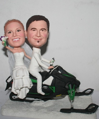 Custom Snowmobile wedding bobbleheads