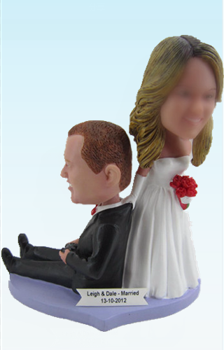 Custom Bride draging groom Wedding bobblehead