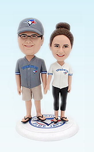 Custom Baseball Fans wedding bobbleheads