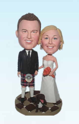Custom Irish Kilt Wedding Bobbleheads